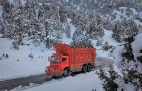 Ziarat valley during winter